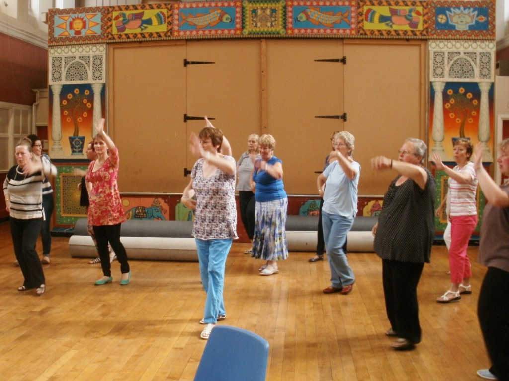 The ladies strutting their stuff with the Samba moves!
