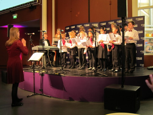 Loughborough Children's Choir Performing on the Foyer Stage at Curve Theatre in Leicester