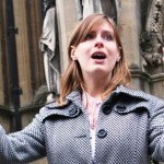 Conducting RGCC outside Bristol Cathedral Oct 2012