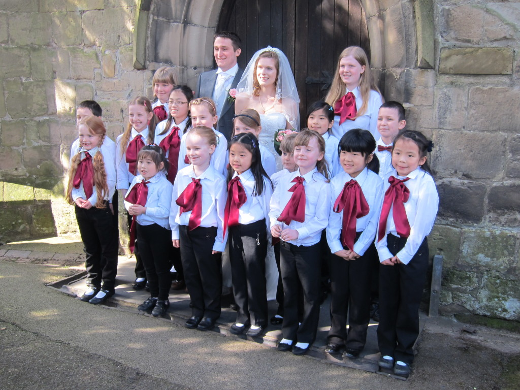 Members of Loughborough Children's Choir at Emma and Mark's Wedding April 2013